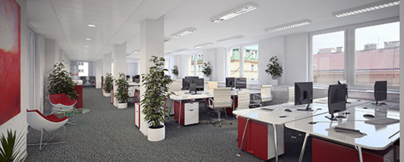 Luxury office space in the center of Revoluční street, 6th floor, 230 m2